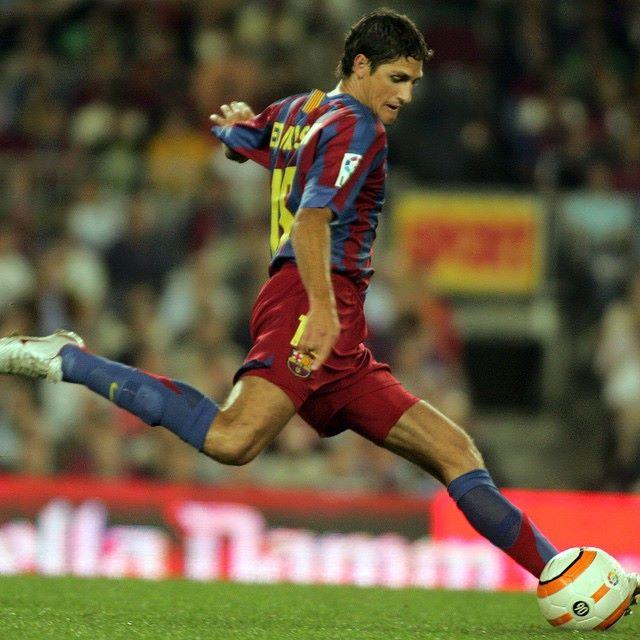 Edmilson pelo Barcelona entre 2004 e 2008. Foto: Facebook/ Arquivo Pessoal