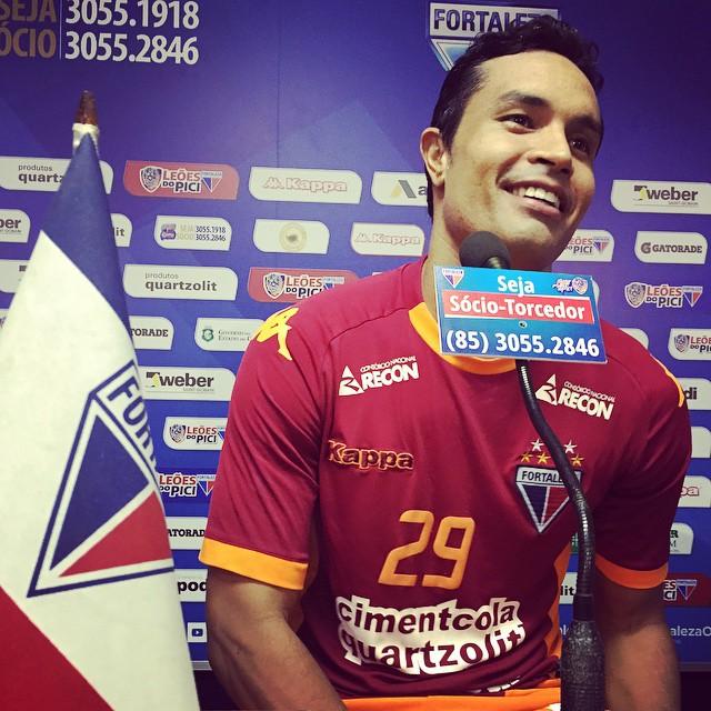 Dudu Cearense é o jogador do estado que mais atuou pela Seleção principal, 11 jogos no total. Foto: FortalezaEC/Divulgação