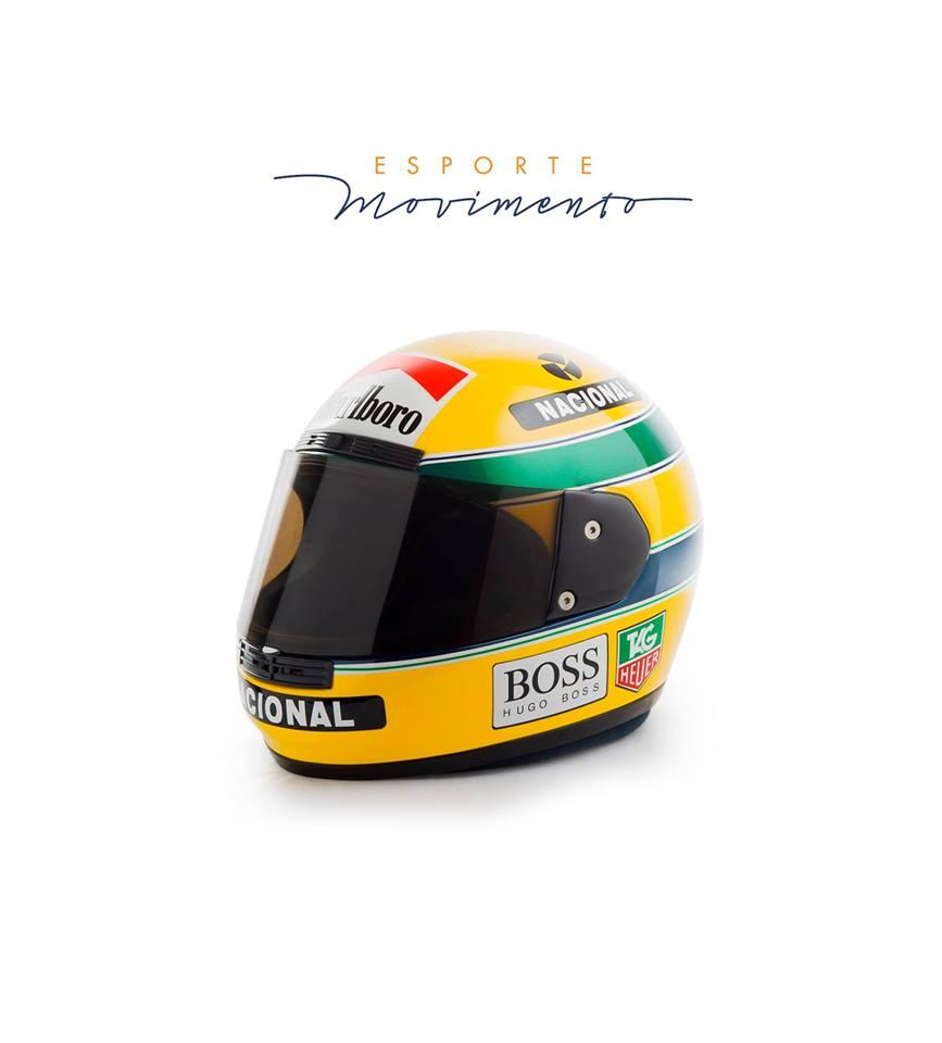 Visitantes vão puder ver de perto o capacete usado pelo piloto Ayrton Senna. Foto: divulgação