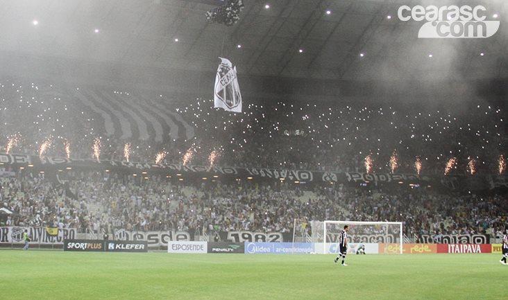 Jogo entre Ceará e Botafogo-RJ, na última terça-feira, levou mais de 37 mil pessoas ao Estádio Castelão. Foto: cearasc.com/Divulgação