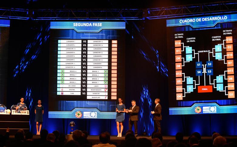 Entidade realizou o sorteio sem a definição dos times que representarão o Brasil. Foto:Conmebol/Divulgação