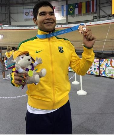 Gideoni Monteiro faturou sua primeira medalha em Jogos Pan-americanos. Foto:Time Brasil/Divulgação