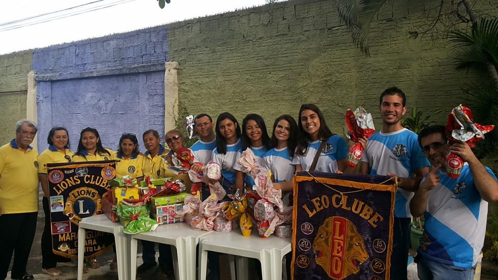 Ação solidária do LIONS e LEO Clube Maranguape na Casa Família Maria Mãe da Ternura, em Maracanaú. Foto Dadynha Saturnino