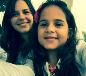 """""""Mamãe EdnaMara linda do meu coração. Te amo!"""" Marina"""