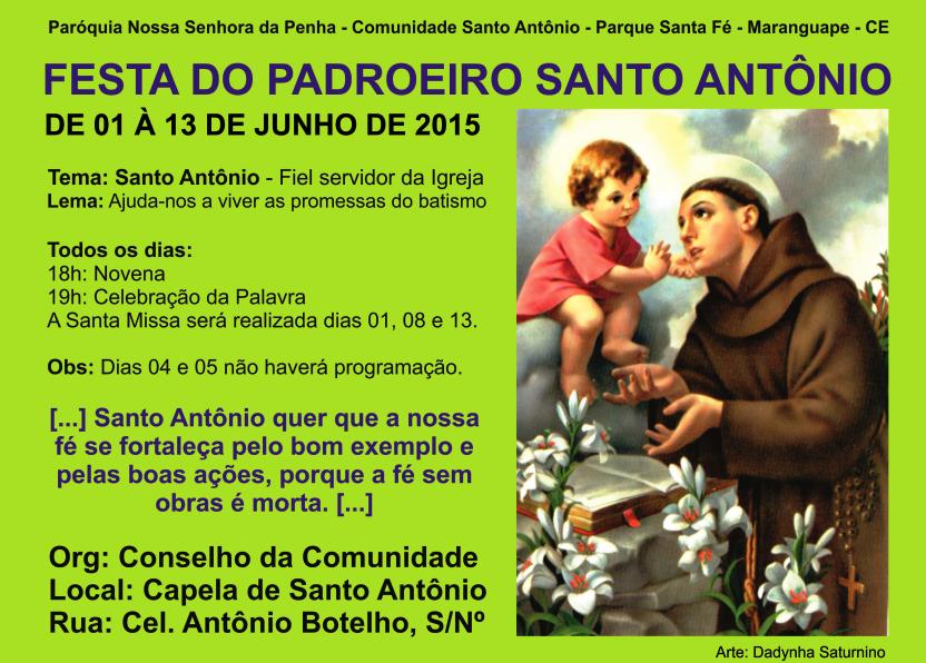 Festa de Santo Antônio. Foto Dadynha Saturnino