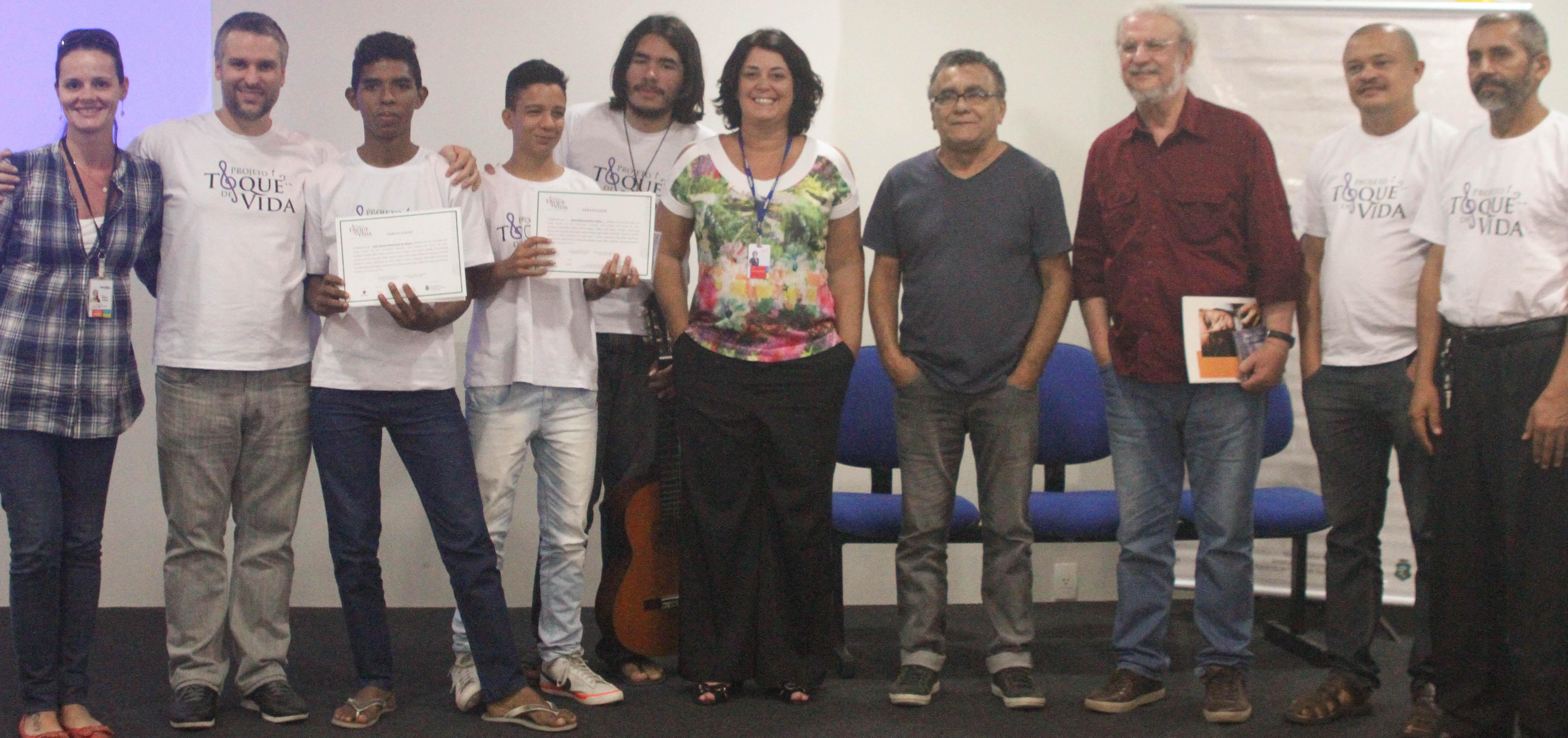 Músico Manassés de Sousa participa de encerramento do Projeto realizado em Maranguape. Foto Marta Moura