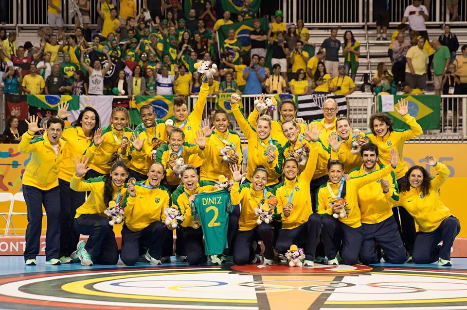 Seleção Brasileira de Handebol também é a atual campeã do mundo. Foto: CBHd/Divulgação