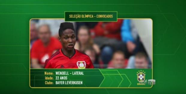 Wendell foi revelado pelas categorias de base do Fortaleza. Foto: CBF TV/Reprodução