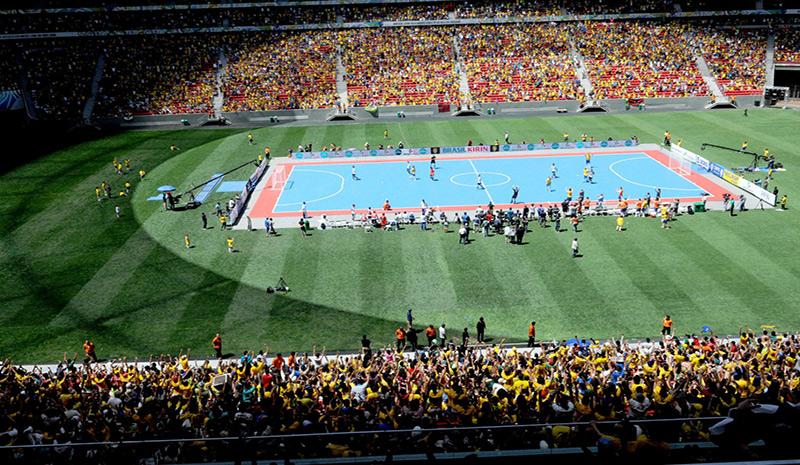 Arena Castelão receberá basicamente a mesma estrutura utilizada no Mané Garrincha. Foto: CBFS/Divulgação
