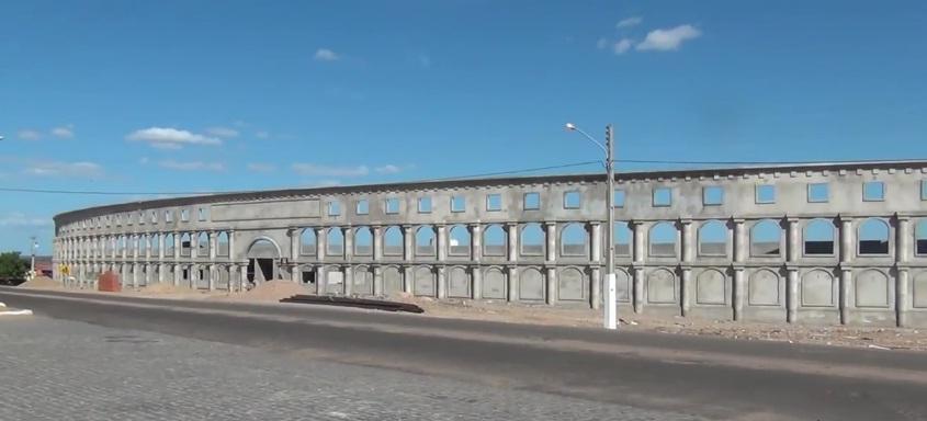 Estádio Coliseu de Alto Santo teve destaque nacional por conta dos traços arquitetônicos semelhantes ao famoso Coliseu de Roma. Foto: FCF TV/Divulgação