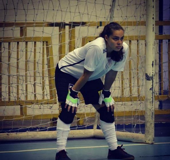 Missiara Papst é tricampeã mundial de futsal. Foto: Arquivo Pessoal
