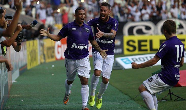 Atacante Rafael Costa foi o autor do gol que garantiu o Ceará na Série B. Foto:  Christian Alekson / cearasc.com)