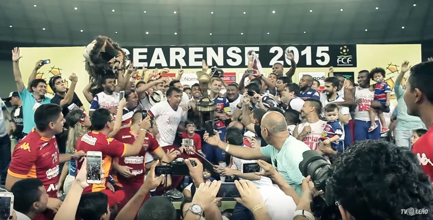 Título de 2015 foi o 40º estadual conquistado pelo Fortaleza. Foto: TV Leão/Reprodução