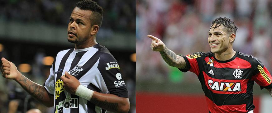 Bill e Guerrero são esperanças de gols das duas equipes. Foto: cearassc.com/Divulgação/facebook.com/flamengooficial