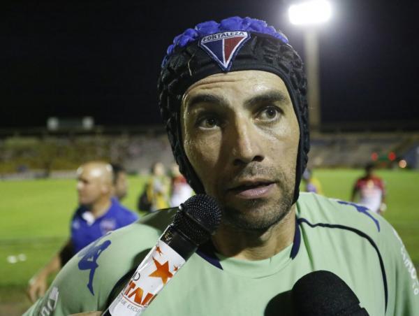 Goleiro Ricardo Berna foi o principal destaque da partida. Foto: Lucas Dias/GP1
