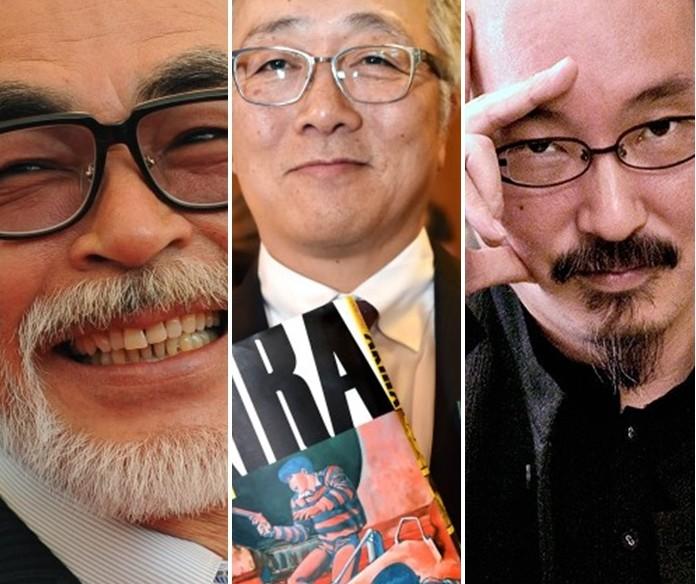Juntos, Miyazaki, Otomo e Kon foram responsáveis por grandes produções do Japão (FOTO: Reprodução)