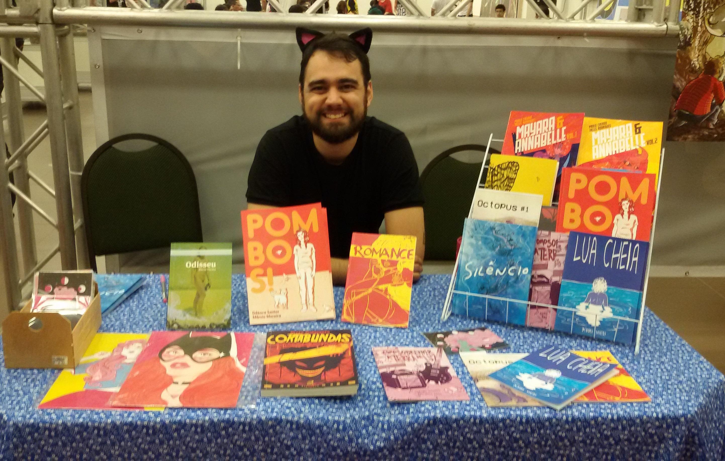 O roteirista e designer gráfico Márcio Moreira durante o Sana Fest 2016 (IMAGEM: Divulgação)