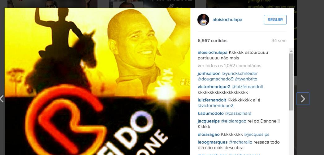 O 'Rei do Danone' vai atuar pelo Comercial-MS, entre um jogo e outro, acompanhe o Instagram dele Foto? Reprodução/Instagram