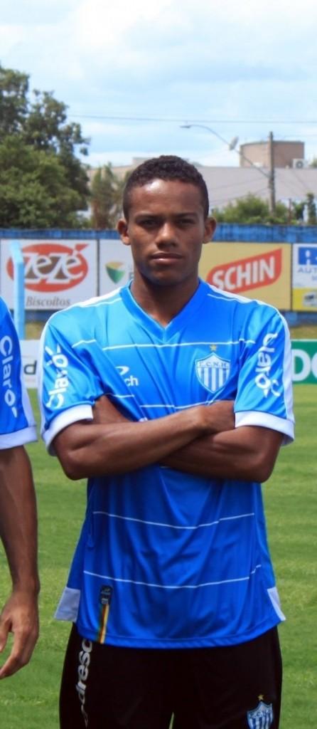 Robinho marcou o primeiro gol do Novo Hambugo no Campeonato Gaúcho