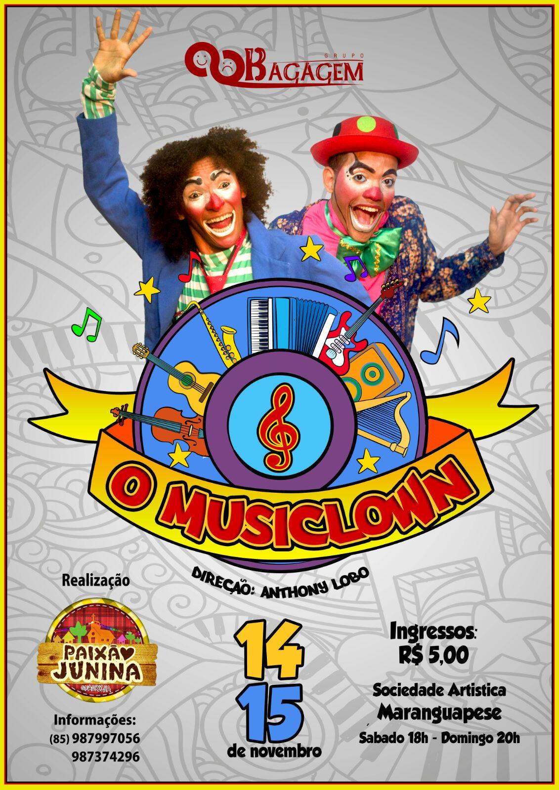 Espetáculo teatral O MusiClown. Divulgação