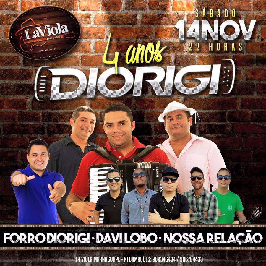 Aniversário da Banda Forró Di Origi no LaViola Music & Restô, em Maranguape-CE. Divulgação