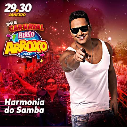 Harmonia do Samba no Bloco Arroxo. Divulgação