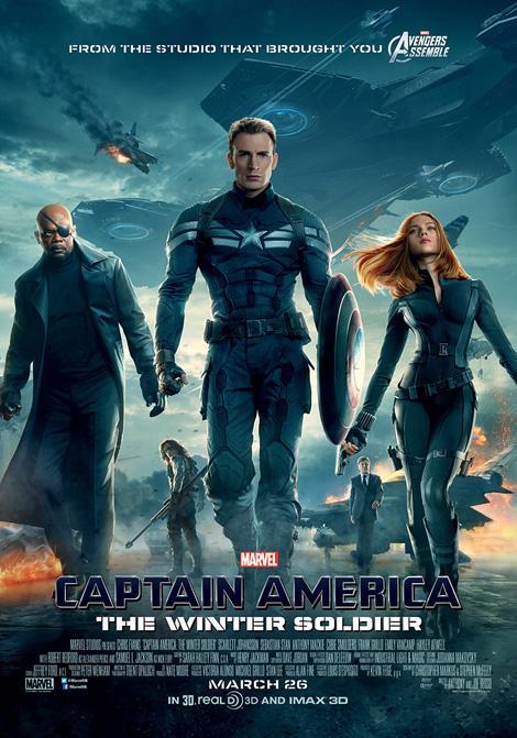 """Pôster de """"Capitão América 2: O Soldado Invernal"""""""