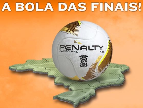 Bola personalizada utilizada nas finais dos campeonatos estaduais em 2015.  Foto  Penalty  Facebook 6d64e811b8363